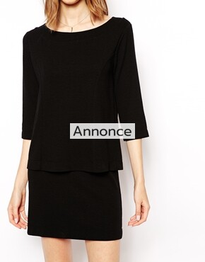 Ganni Dress with Double Layer kjole