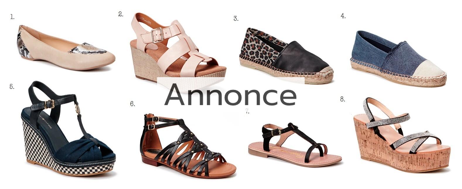sommersko på tilbud billige rabat rabatkode modetendenser sandaler