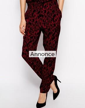 Ganni Trousers in Leopard Print