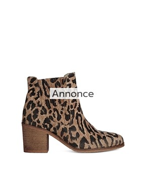 Ganni Veronica Meow Leopard Chelsea Ankle Boots