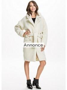 NOTION 1.3 TEDDY LONG COAT efterårsjakke kvinde