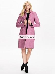 GESTUZ ROSA COAT frakke oversize til store kvinder