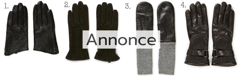 handsker med varme vanter