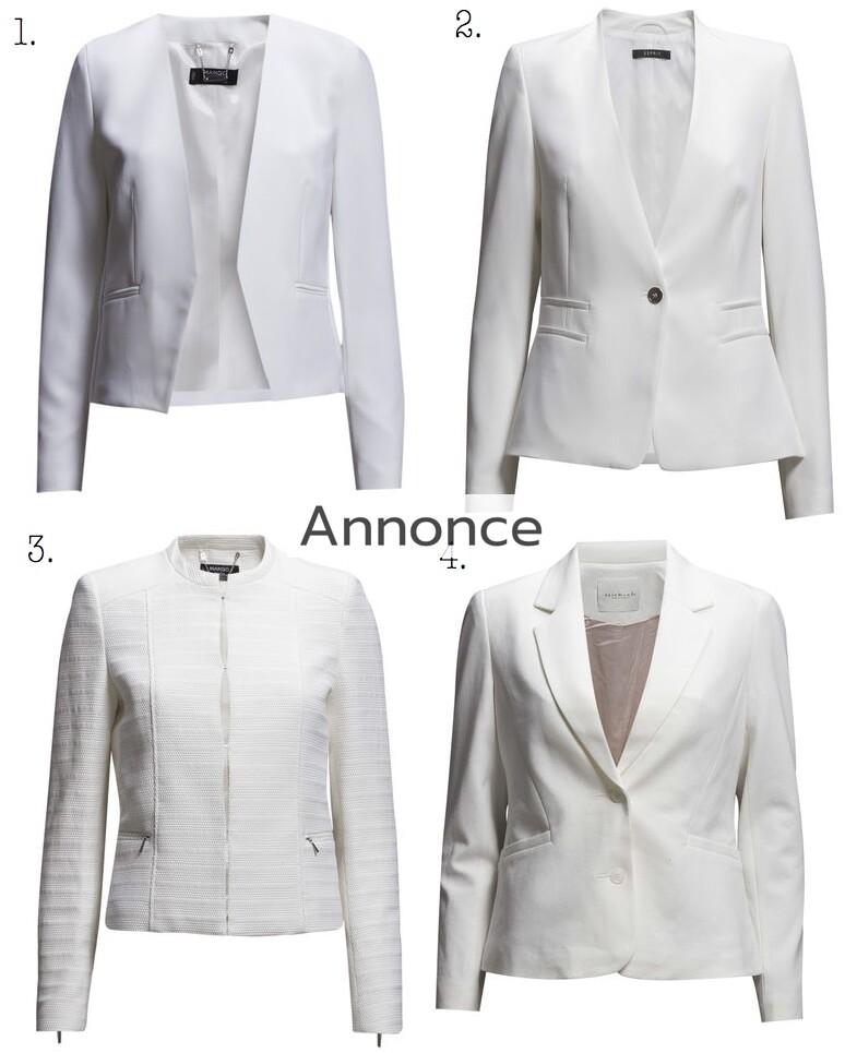 hvid blazer dame