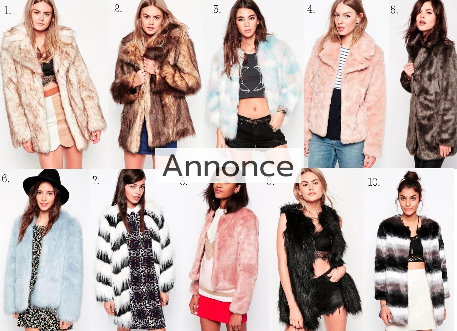 faux fur fake jakke pelsjakke pels jakke pelsfrakke frakke