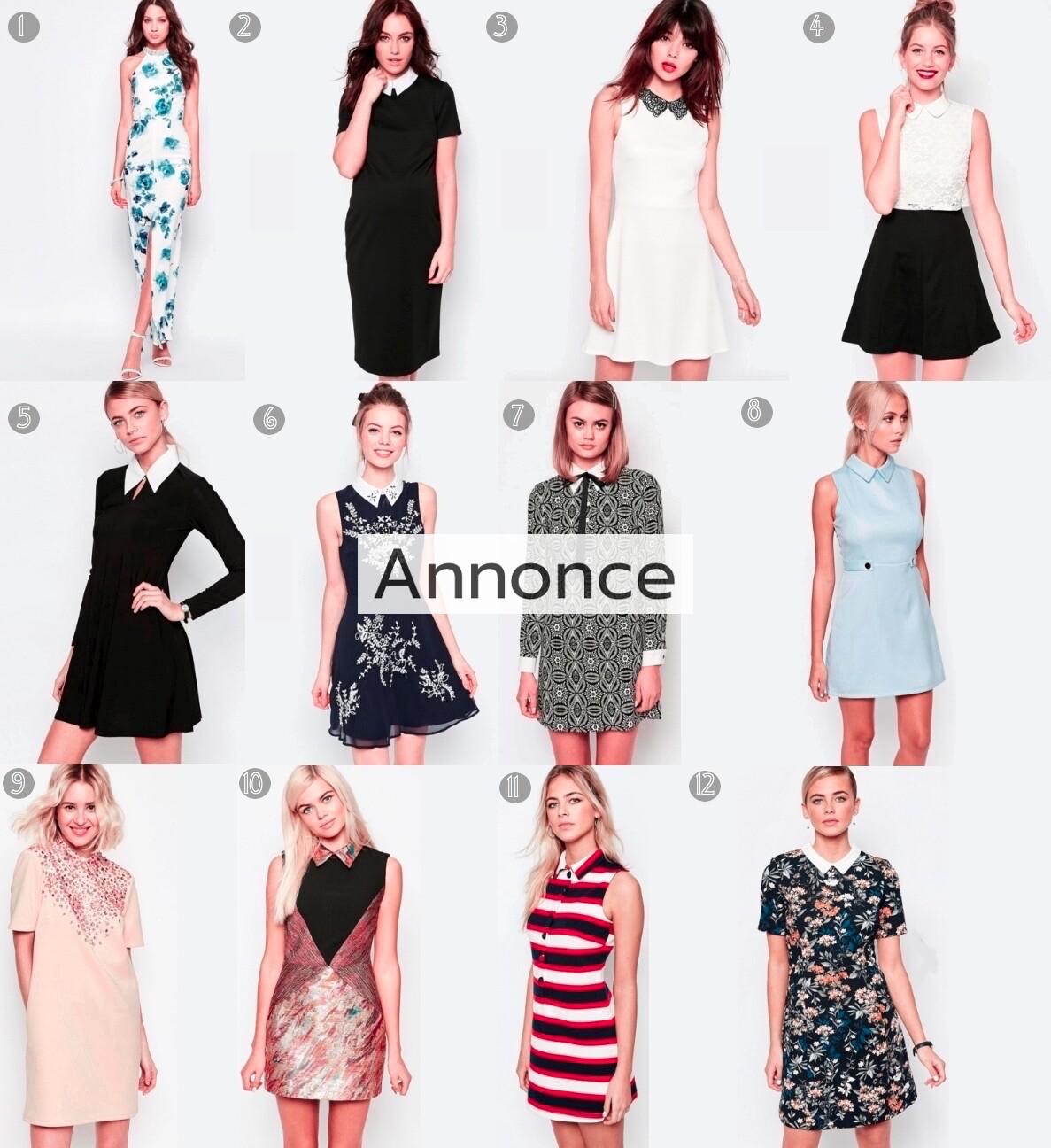 kjoler med krave kraver festkjoler collar dress udsalg rabatkode