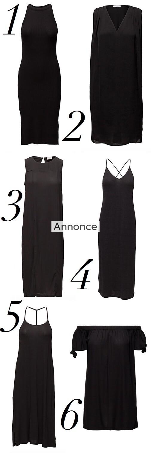 sorte kjoler under 300 kroner billige festkjoler sommerkjoler sommer